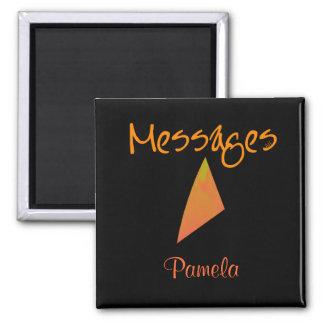 Messages Magnet Diamond - orange, Pamela Magnets