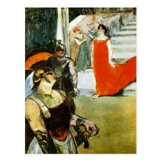 Messalina que desciende por Toulouse-Lautrec Tarjeta Postal