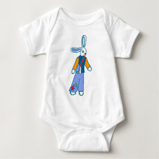 Messanger Bunny Baby Bodysuit