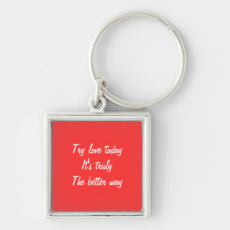 Messasge of love keychain