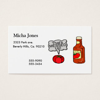 Messed Up Ketchup Business Card