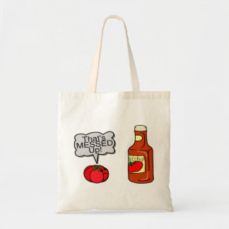 Messed Up Ketchup Tote Bag