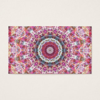 messed up sunset kaleidoscope business card