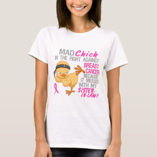 Messed With My Sister-In-Law 3L Breast Cancer T-Shirt