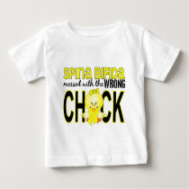 Messed With Wrong Chick 1 Spina Bifida Baby T-Shirt