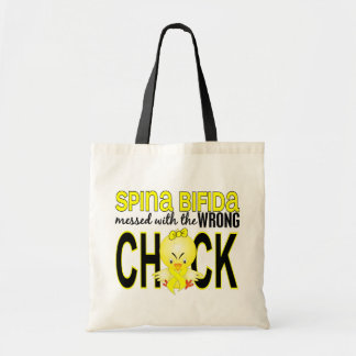 Messed With Wrong Chick 1 Spina Bifida Tote Bag