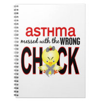 Messed With Wrong Chick Asthma Notebook