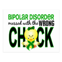 Messed With Wrong Chick Bipolar Disorder Postcard