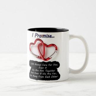 messege heart Two-Tone coffee mug