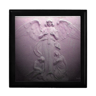 Messenger Angel Deluxe Wood and Tile Gift Box