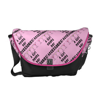 MESSENGER BAG - A GIRL NEEDS HER ACCESSORIES