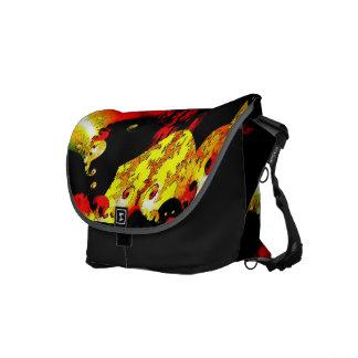 Messenger bag ablaze