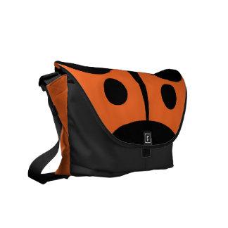 Messenger Bag, Abstract Ladybug, Orange & Black Courier Bag