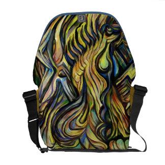 Messenger bag abstract painting- 'shuffle'