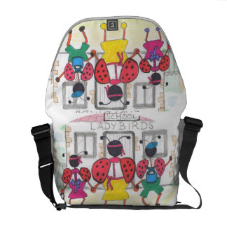 MESSENGER BAG BACK TO SCHOOL LADYBIRD DESIGN