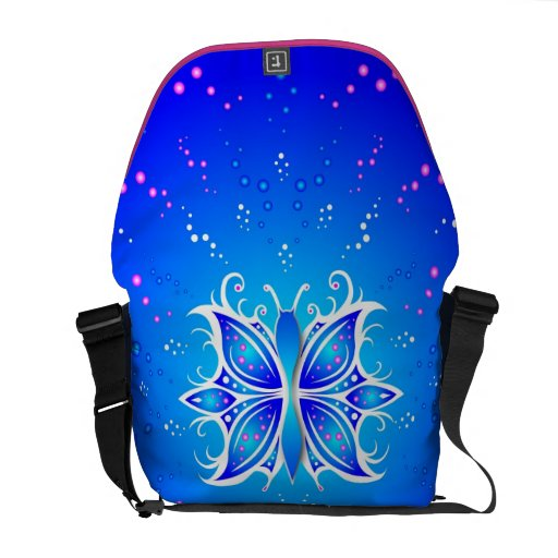 Messenger Bag Butterfly Abstract