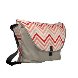 Messenger Bag: Cherry Red chevron Messenger Bag