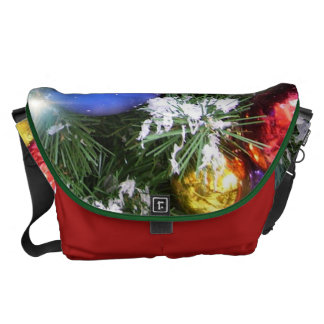 Messenger Bag - Christmas Glow & Faux Snow