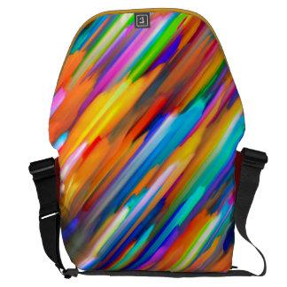 Messenger Bag Colorful digital art splashing G391