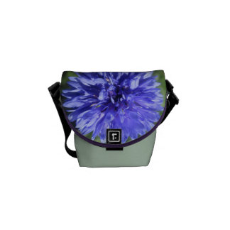 Messenger Bag - Cornflower Blue Bachelor's Button