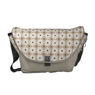 Messenger Bag - Daisy Pattern in Champagne