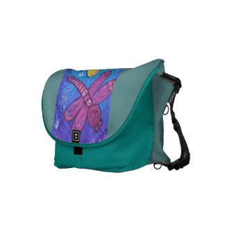 Messenger Bag -Dragonflies at Play
