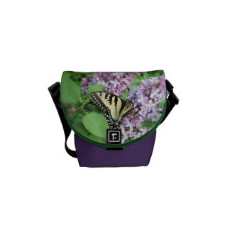 Messenger Bag - ET Swallowtail on Lilac