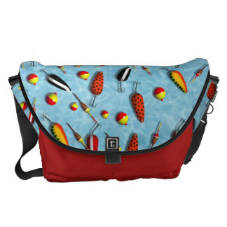 Messenger Bag - Fishing Bobs & Lures