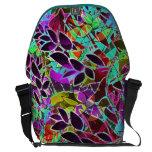 Messenger Bag Floral Abstract Artwork