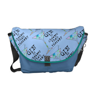 MESSENGER BAG - GIN IS CHEAPER THAN THERAPY
