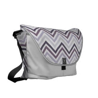 Messenger Bag: Grape chevron Messenger Bag