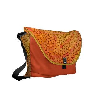 Messenger Bag/Kurierta medium 'orange Mosaic' Messenger Bag