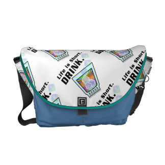 MESSENGER BAG - Life is Short. DRINK.