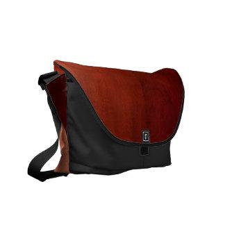 Messenger Bag: Mahogany Wood Messenger Bag