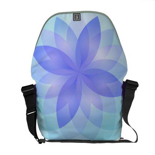 Messenger Bag mandala abstract lotus flower