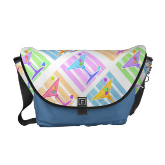 MESSENGER BAG - PASTEL MARTINIS