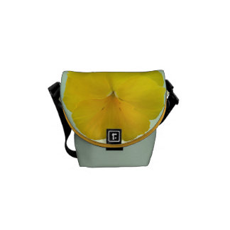 Messenger Bag - Pencilled Yellow Pansy