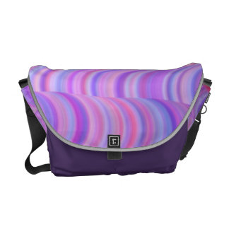 Messenger Bag - Purple Curves