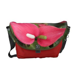 Messenger Bag - Red Anthurium Twins