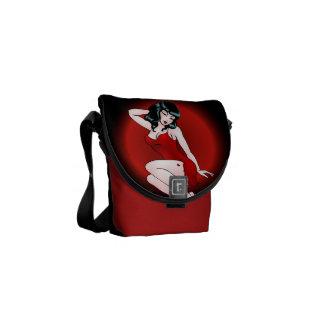 Messenger Bag Retro Pinup Girl Stachels & Bags