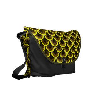 Messenger Bag Seamless retrò pattern
