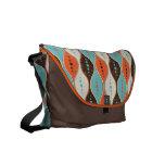 Messenger bag seamless retro pattern grunge