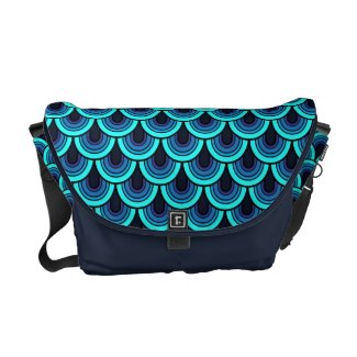 Messenger Bag Seamless retrò pattern rickshawmessengerbag