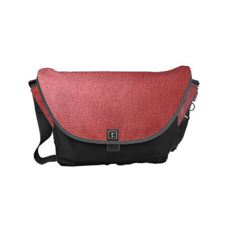 Messenger Bag  Silver Red Tan Leather look shades