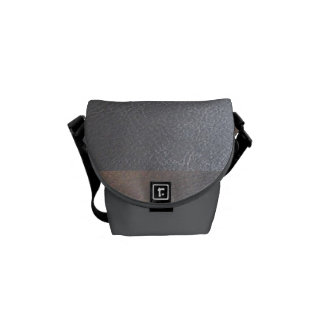 Messenger Bag  Silver Sparkle Leather look shades