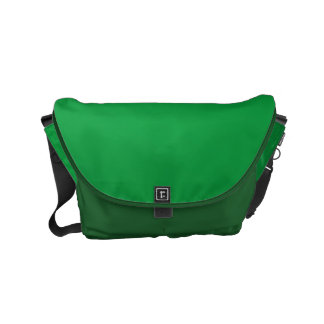 Messenger Bag Sparkle Luxury green Leather look
