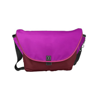 Messenger Bag Sparkle Luxury Purple Leather look