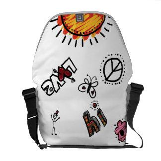 Messenger Bag, Summer Fun Doodle Art Courier Bag