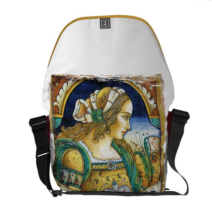 Messenger Bag: Tuscan Renaissance Girl Messenger Bag