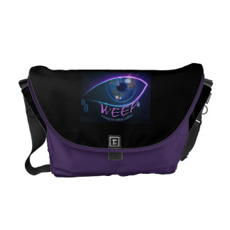 Messenger Bag- WEEP echoing the human condition Messenger Bag